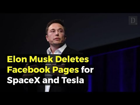 Elon Musk has removed Tesla and SpaceX's Facebook pages after Twitter challenge
