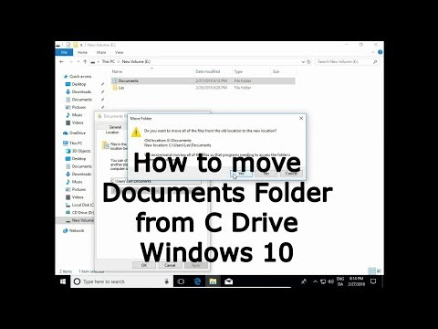 How to move Documents Folder from C Drive  Windows 10