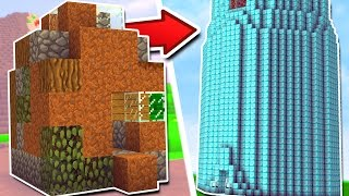 WORLD'S BIGGEST CRAFTING TABLE IN MINECRAFT! (WORLD RECORD) w