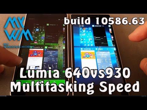 Multitasking Speed Comparison Lumia 640vs930