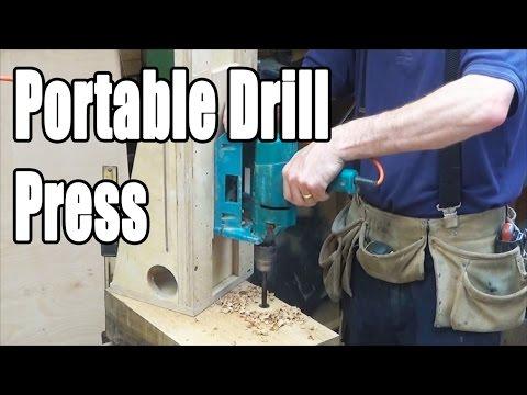 Timber Framing Portable Drill Press (home-made)