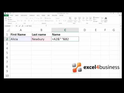 How to Combine the Content of Multiple Cells in Excel