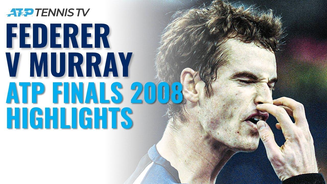 Roger Federer vs Andy Murray Dramatic Match: ATP Finals 2008 Tennis Highlights!