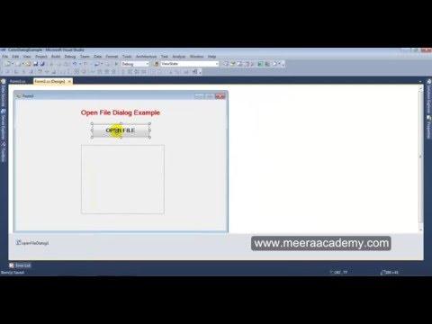 open file dialog windows application in asp.net
