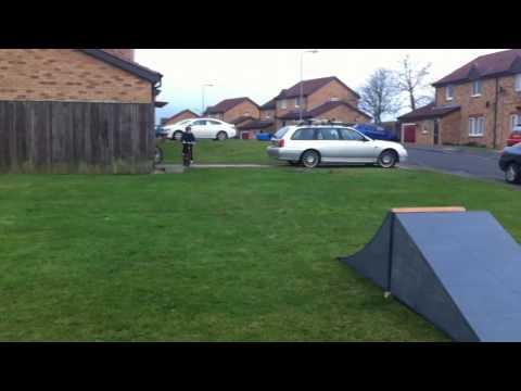Bike Ramps Test. Kicker Jump.