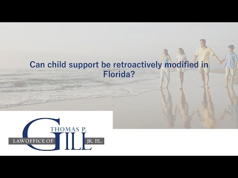 Can child support be retroactively modified in Florida?
