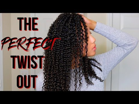 Get the  PERFECT Twist Out EVERY TIME   KeraVada Review   How To Twist Out