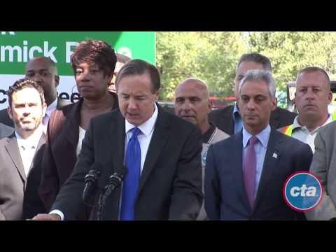 Mayor Emanuel Breaks Ground for Cermak Green Line Station
