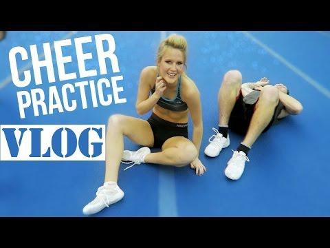 CHEER PRACTICE VLOG: New Stunts + Black Eyes?!