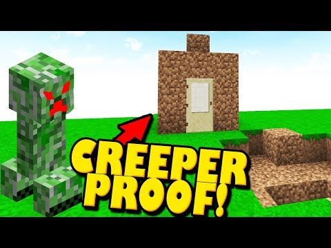 Minecraft Creeper Proof House - Best Material for Building in Minecraft