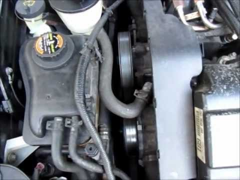 Serpentine belt replacement using a breaker bar - Ford Duratec V6