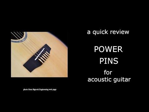 Power Pins bridge pins for acoustic guitar review