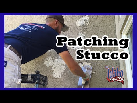 How To Patch Stucco.  Simple Instructions Patching Stucco.