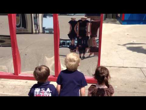 Fun house mirrors at Navy Pier