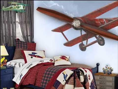 Simple Airplane bedroom interior design