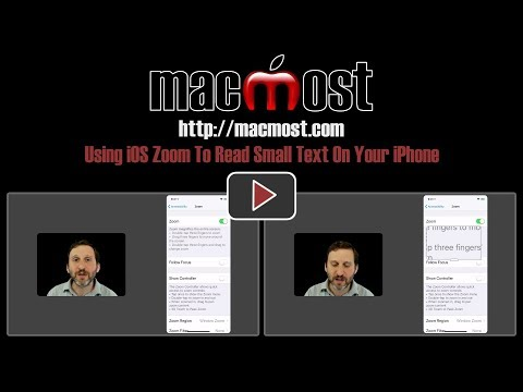 Using iOS Zoom To Read Small Text On Your iPhone (#1602)