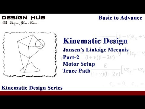 Trace Path and Motor Setup in Jonsen Linkage Mechanism in Solidworks|Solidworks kinematics|part2|