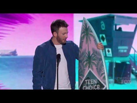 Chris Evans Wins Choice Movie Actor Teen Choice Awards 2016
