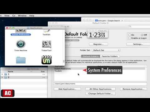 Set the Default 'Open/Save' Folder for Each Application on Mac (2/2)