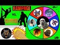 RAMPAGE Vs KING KONG Slime Wheel Game Which Ape Movie Surprise Toys Win Kids Opening Video