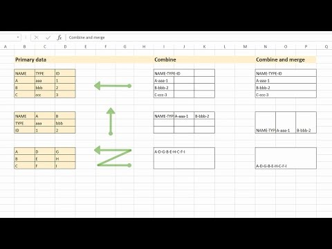 Easily combine cells contents and merge cells in Excel without losing data