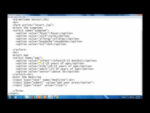 Inserting Data into Database Tables using Jsp
