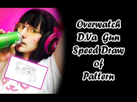 Overwatch D.Va Gun Speed Draw of Pattern