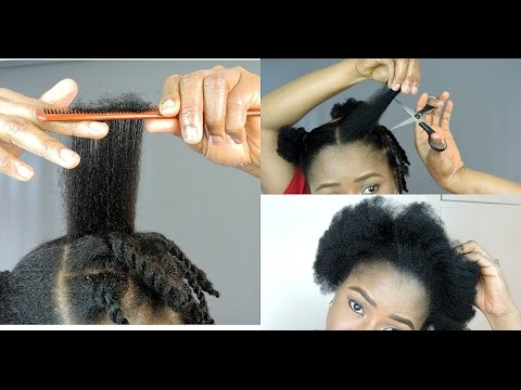 HOW TO TRIM NATURAL HAIR YOURSELF || DIY