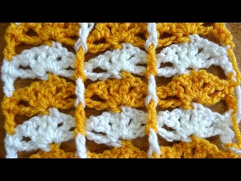 Shells with Borders - Crochet Tutorial