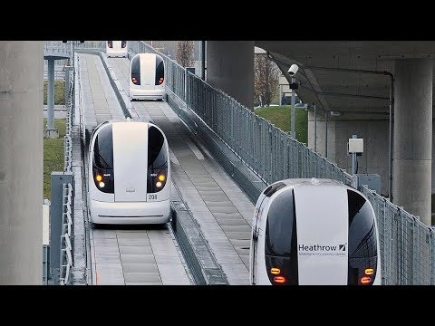 Unmanned automatic taxi at London airport