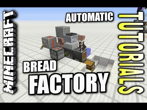 Minecraft PS4 - AUTOMATIC BREAD FACTORY - How To - Tutorial ( PS3 / XBOX )