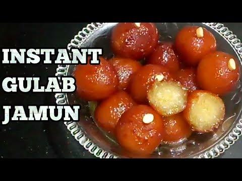 Gulab Jamun recipe-Instant Gulab Jamun Mix Recipe-Gulab Jamun Recipe with Bambino Mix-In Hindi