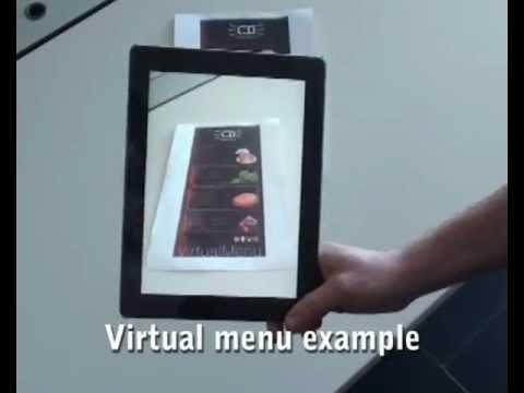 Augmented reality restaurant virtual menu