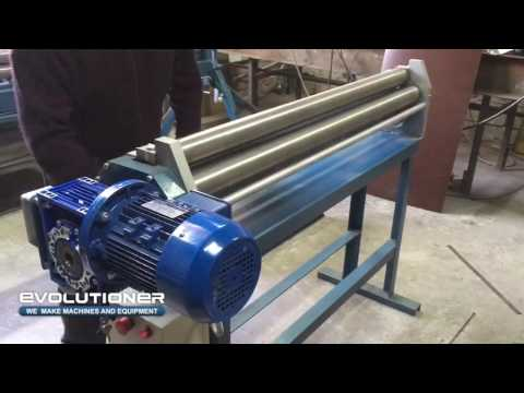 Plate rolling machine EPRM-1,3 overview video