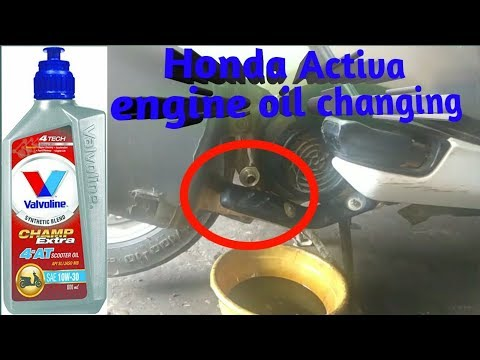 How to change engine oil for Activa 4G