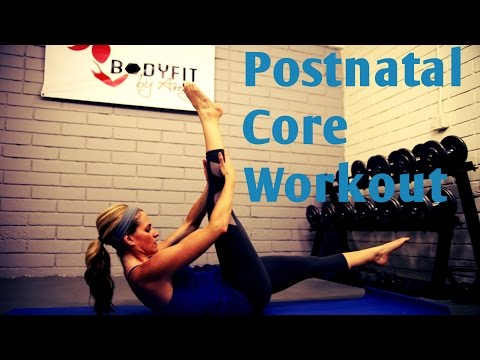 12 Minute Post Natal Core Workout---Abs Workout for After Pregnancy or C Section