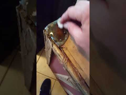Cleaning brass that's over 100 years old with salt and vinegar