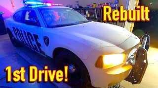 Copart $2015 WIN!! 2009 Dodge Charger Hemi PPV Police Car Reveal and 1st Drive!