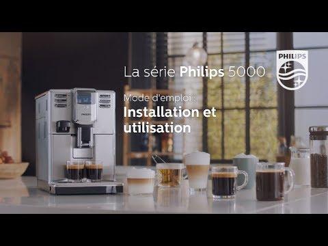Philips EP5365 machine à espresso Série 5000 Comment installer et utiliser la machine à espresso