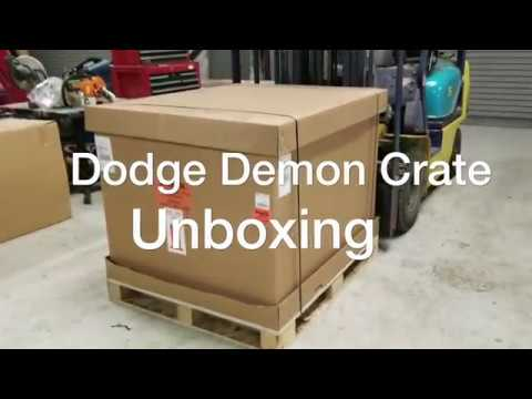 REAL Dodge Demon Crate Unboxing