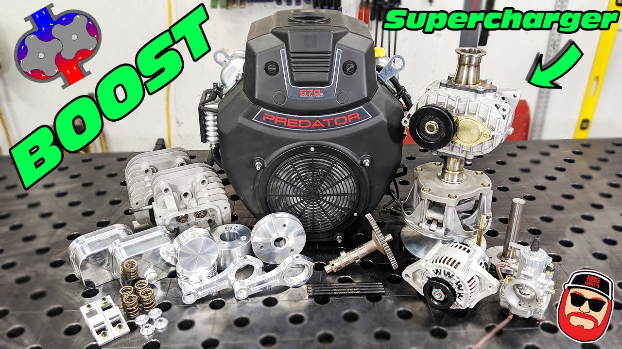 70HP Supercharged Harbor Freight Predator 670cc V Twin Engine Build