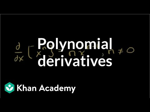 Differentiating polynomials | Derivative rules | AP Calculus AB | Khan Academy