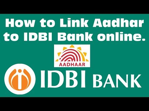 How to online link adhar to idbi bank account in 1 min