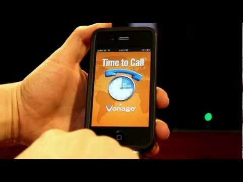 Vonage Time to Call Free International Calling iPhone App