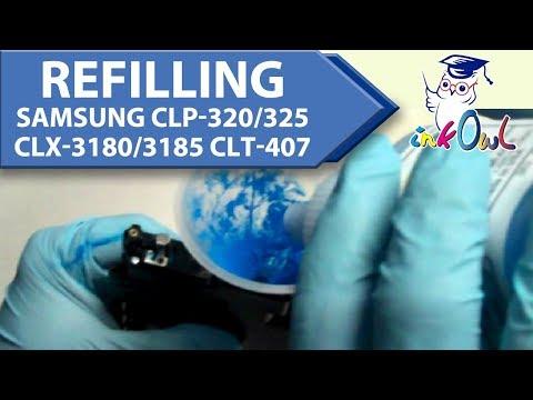 How to Refill Samsung CLP-320 CLP-325 CLX-3180 CLX-3185 CLT-407