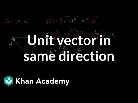 Unit vector in same direction | Vectors | Precalculus | Khan Academy