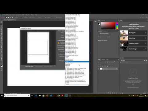 Using ICC printer profiles with Photoshop CC 2018