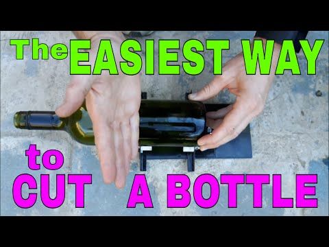 The EASIEST way to cut a bottle in HALF. Safely and quickly.