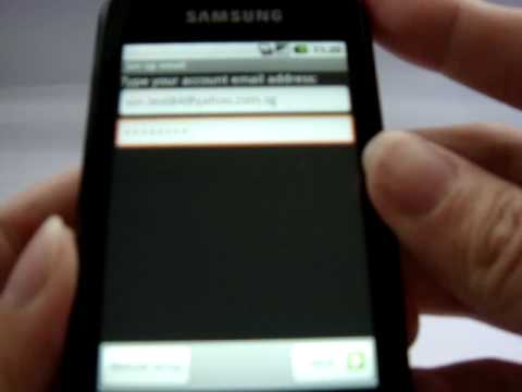 Samsung GALAXY SPICA Gmail setting, Full push G-Mail Account Setup