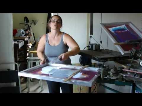 how to operate an antique silk-screen machine